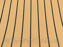Eva искуственный тик Color 2 светлый тик, черная полоса 230cm x 90cm