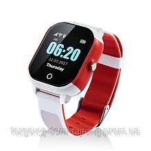 Детские смарт-часы Lemfo DF50 Ellipse Aqua с GPS трекером Бело-красный (swjetdf50whre)