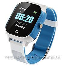 Детские смарт-часы Lemfo DF50 Ellipse Aqua с GPS трекером Бело-голубой (swjetdf50whble)