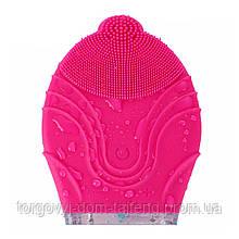 Електрична силіконова щітка-масажер для чищення особи Kingdom KD-308 Pink (4123-11860)