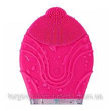 Силіконова щітка-масажер Kingdom KD-308 для чищення особи Pink (4123-12012)