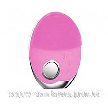 Ультразвукова щітка масажер Doc-team brush для особи з функцією фототерапії Рожевий (161)