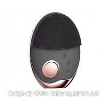 Ультразвукова щітка масажер Doc-team brush для особи з функцією фототерапії Чорний (162)