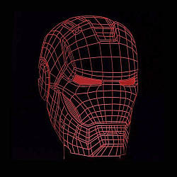 3D Світильник Маска Залізної людини 13-5