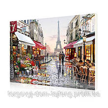 """Картина по номерам Lesko E-190 """"Цветочный магазин Парижа"""" 40-50см (4758-14679a)"""