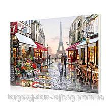 "Картина за номерами Lesko E-190 ""Квітковий магазин Парижа"" 40-50см (4758-14679a)"