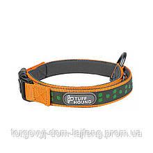 Светоотражающий ошейник для собак TUFF HOUND 1537 с утяжкой L Orange