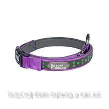 Светоотражающий ошейник для собак TUFF HOUND 1537 с утяжкой S Purple