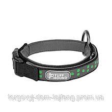 Светоотражающий ошейник для собак TUFF HOUND 1537 с утяжкой S Black