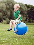 Фітбол (М'яч для фітнесу, гімнастичний) глянець OSPORT 55 см (OF-0017) Синій, фото 3