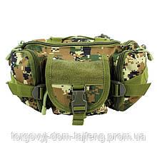 Сумка тактическая на пояс AOKALI Outdoor D05 6L Camouflage Green (5369-16935a)