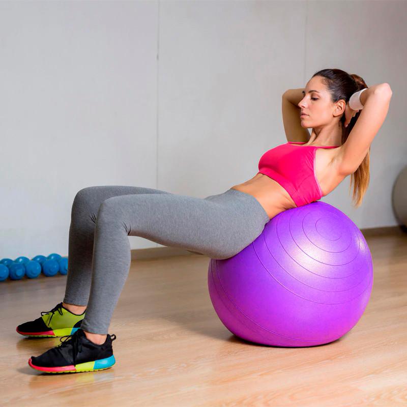 Фитбол (Мяч для фитнеса, гимнастический) глянец OSPORT 65 см (OF-0018) Фиолетовый