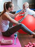 Фитбол (Мяч для фитнеса, гимнастический) глянец OSPORT 65 см (OF-0018) Фиолетовый, фото 3
