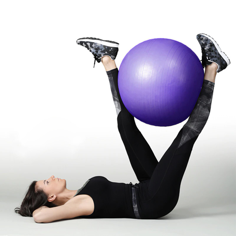 Фитбол (Мяч для фитнеса, гимнастический) глянец OSPORT 75 см (OF-0019) Синий