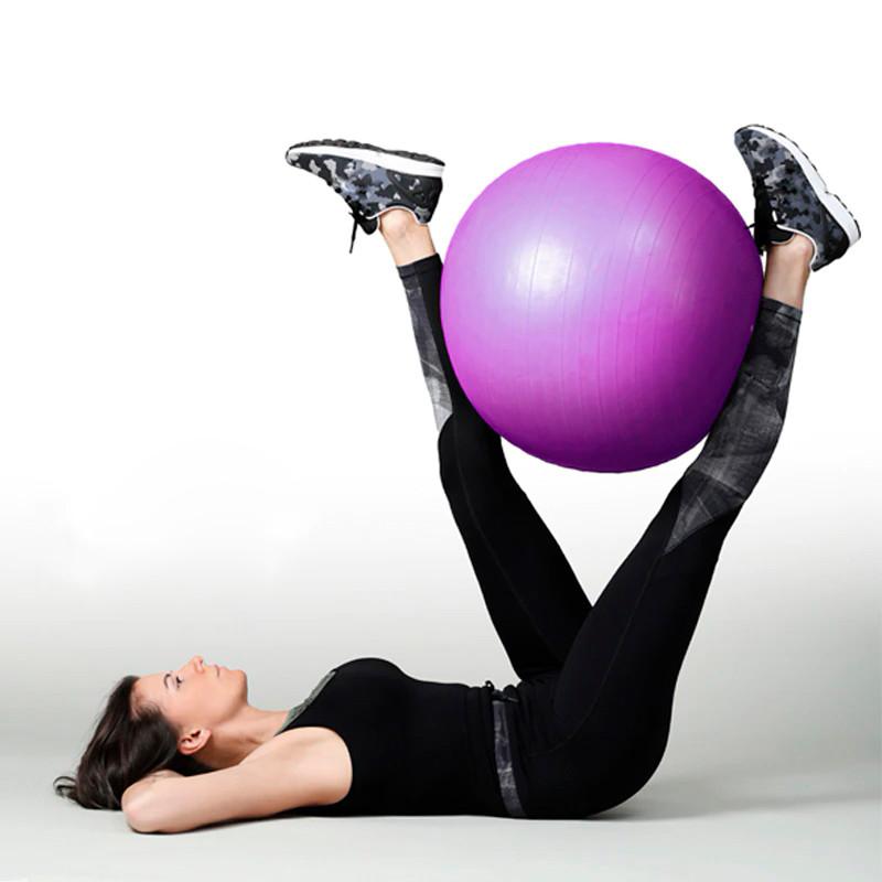 Фитбол (Мяч для фитнеса, гимнастический) глянец OSPORT 75 см (OF-0019) Фиолетовый