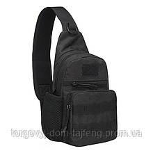 Рюкзак тактичний на одне плече AOKALI Outdoor A14 20L Black (5368-16999a)