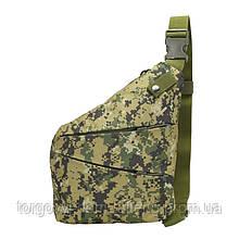 Рюкзак тактичний на одне плече AOKALI Outdoor A38 5L Camouflage Green (5370-17003a)