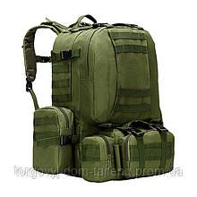 Рюкзак тактичний +3 підсумки AOKALI Outdoor B08 75L Green (5367-17010a)