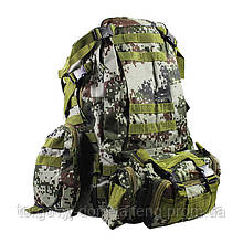 Рюкзак тактичний +3 підсумки AOKALI Outdoor B08 75L Camouflage Green (5367-17009a)