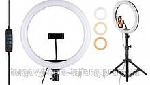 Набір блогера 2 в 1 Кільцева LED лампа 33 см з тримачем для телефону і штативом