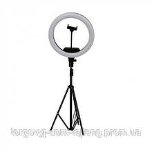 Набір блогера Кільцева LED лампа AL-33 діаметр 33 см з кріпленням телефону і пультом і штативом