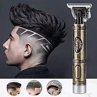 Профессиональная машинка триммер для стрижки волос 3 насадки USB 2 аккумулятора металлический корпус ws-t9