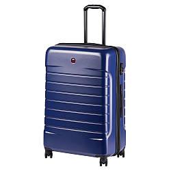 Чемодан пластиковый Wenger, Lyne, большой, 4 колеса (синий) (610114)