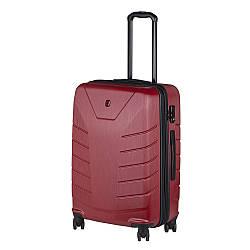 Чемодан пластиковый Wenger, Pegasus, средний, 4 колеса (красный) (610125)