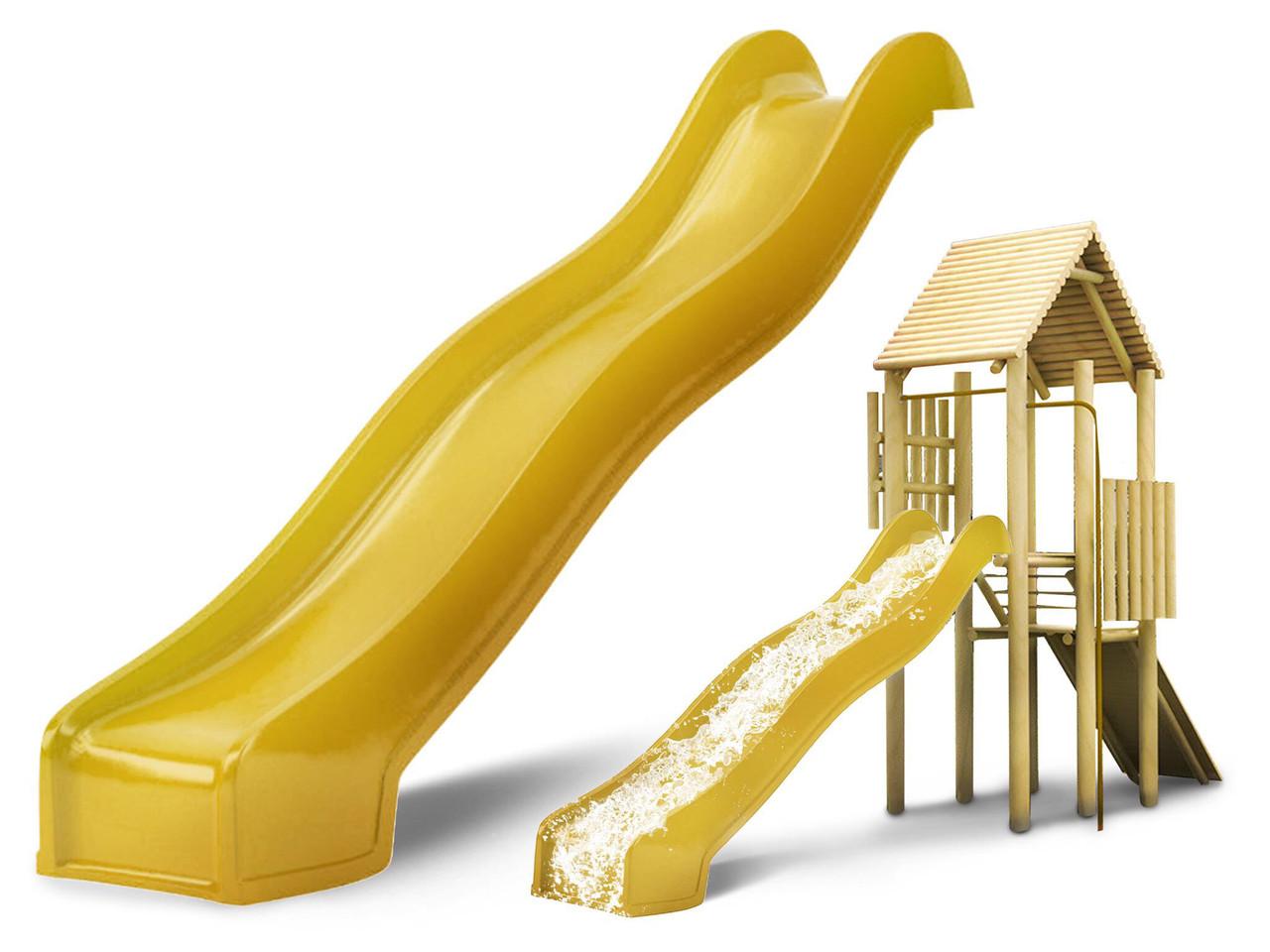 Гірка спуск для дітей Hapro 3 м. (Жовта)