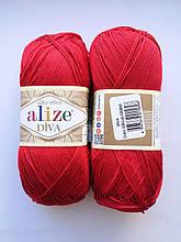 Пряжа Дива (Diva) ALIZE цвет 106 красный