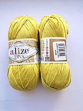 Пряжа Дива (Diva) ALIZE цвет 109 лайм