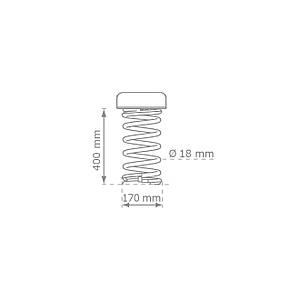 Качалка на пружине KBT Носорог из HDPE пластика (полный комплект), фото 2