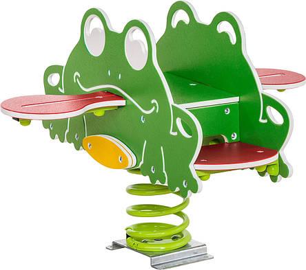 Качалка на пружині KBT Жаби з HDPE пластику (повний комплект), фото 2