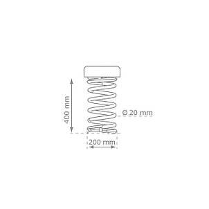 Качалка на пружине KBT Олень из HDPE пластика (полный комплект), фото 2