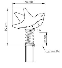 Качалка на пружине KBT Ласточки из HDPE пластика (полный комплект), фото 3