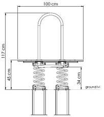 Качалка на пружині KBT L-line з HDPE пластику, фото 2