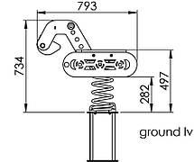 Качалка на пружині KBT Екскаватор з HDPE пластику, фото 2