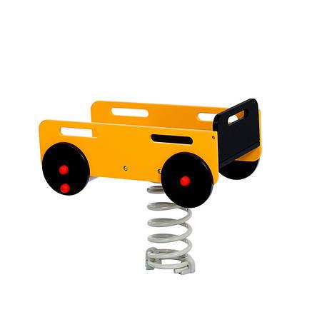 Качалка на пружині KBT Причіп з HDPE пластику, фото 2
