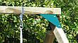Дерев'яні гойдалки Sublime XL Deluxe з прогумованими гойдалками на ланцюгах, фото 6