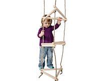 Тристороння мотузкові сходи для дитячого майданчика, фото 2