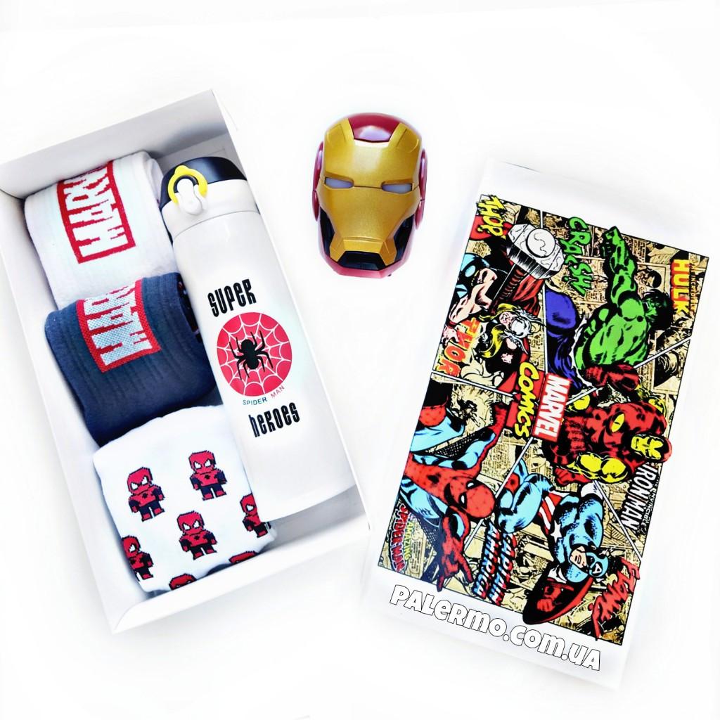 Подарочный бокс для мужчин Супергерои Marvel Spiderman Марвел Спайдермен с колонкой