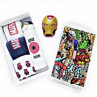 Подарочный бокс для мужчин Супергерои Marvel Spiderman Марвел Спайдермен с колонкой, фото 1