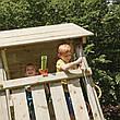 Дитячий майданчик Blue Rabbit KIOSK, будиночок з гіркою, фото 2