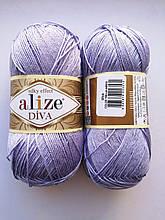 Пряжа Дива (Diva) ALIZE цвет 158 лиловый