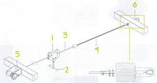 Канатна дорога ZIP WIRE з нержавіючої сталі KBT, фото 3