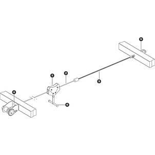 Підвісний трос для канатної дороги Zip Wire KBT, фото 2