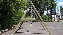 Одинарні гойдалки Enkel дерев'яна яні, фото 2