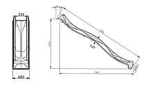 Гірка спуск Yulvo для дитячого майданчика 2,2 м. KBT Жовта, фото 3