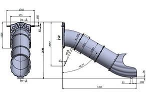 Гірка спуск Тунель на висоту 1,5 м, фото 2