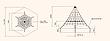 Сітка з армованого каната Піраміда – 3.5 м, фото 2